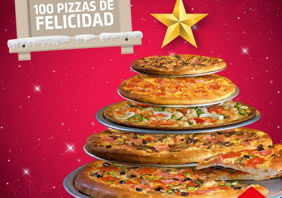 En Návola Restaurant Regalamos 100 Pizzas de Felicidad