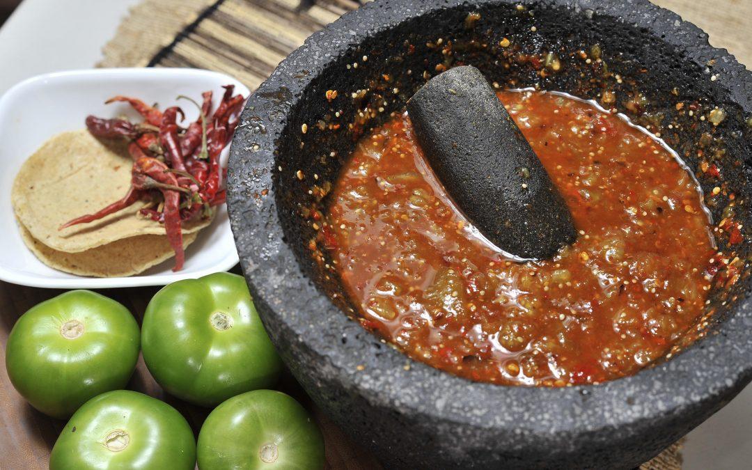 Las salsas mexicanas, color, sabor y picor